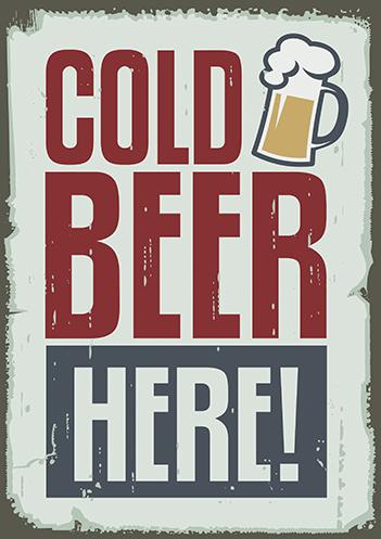 Cerveja gelada aqui!