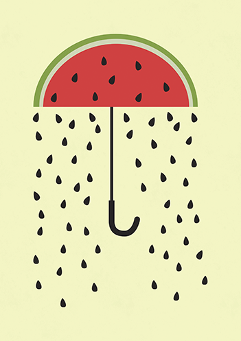 Chuva de melancias
