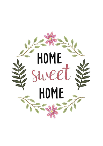Home Sweet Home - Floral - Decorateria